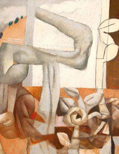 Senza Titolo | 2002 - olio su tela - 100x100 cm