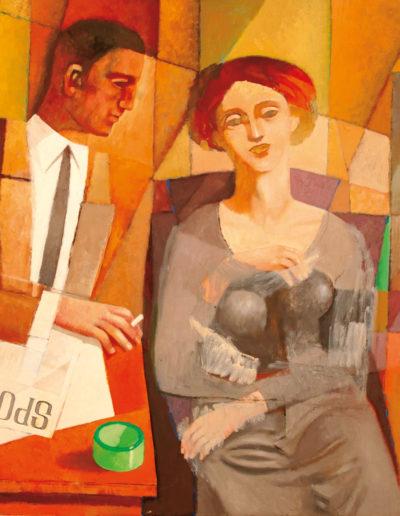 Senza Titolo | 2003 - olio su tela - 100x100 cm
