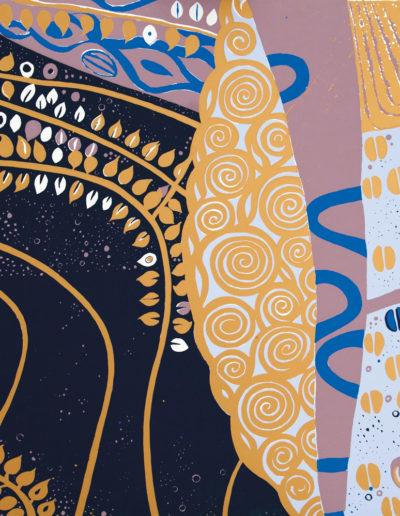 Senza Titolo - serigrafia, 80x80 cm, 1980