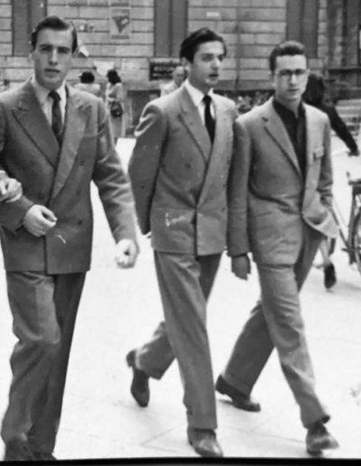 Franco Onali, Beppe Forzoni e Giorgio Venturini, 1953