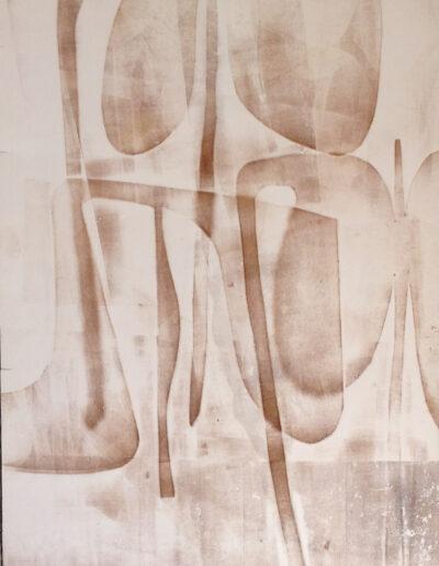 Franco Onali - S.T. - Inchiostro Tipografico su carta - cm 70x100 - 1984