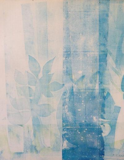 Franco Onali - S.T. - Inchiostro Tipografico su carta - cm 70x70 - 1984