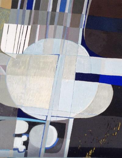 Franco Onali - S.T. - Tempera su carta - cm 100x70 - 1980