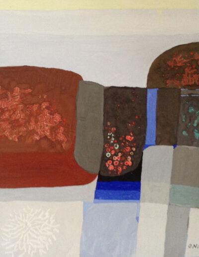 Franco Onali - S.T. - Tempera su carta - cm 30x30 - 1980