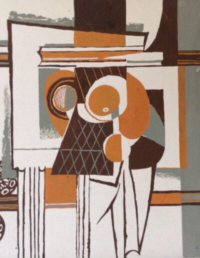 Franco Onali - S.T. - Tempera su carta - cm 35x35 - 1981