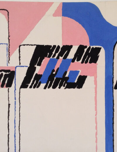 Franco Onali - S.T. - Tempera su carta - cm 35x35 - 1982
