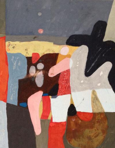 Franco Onali - S.T. - Tempera su carta - cm 35x35 -1985