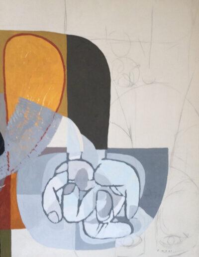 Franco Onali - S.T. - Tempera su carta - cm 67x89 - 1983