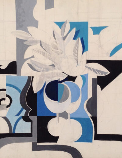 Franco Onali - S.T. - Tempera su carta - cm 70x50 - 1983