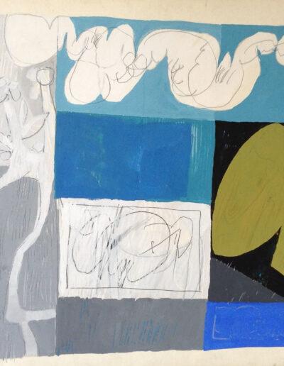Franco Onali - S.T. - Tempera su carta - cm 95x70 - 1983